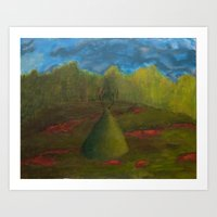 in the meadow of the god of the shadow Art Print