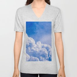 Brave Swallow Bird High Up In The Stormy Sky Unisex V-Neck