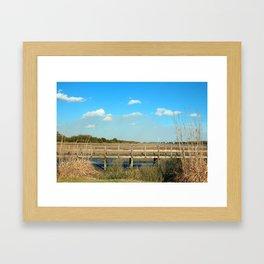 Salt Marsh View Framed Art Print