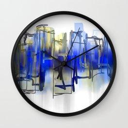 Beyond Blue Wall Clock