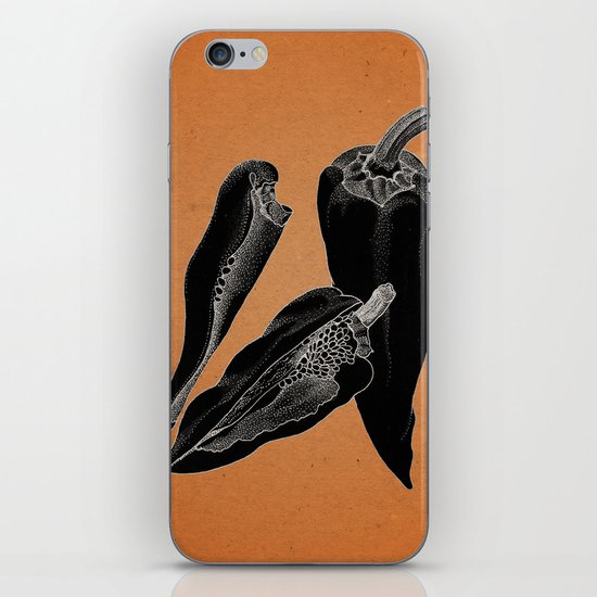 Chillies by night iPhone & iPod Skin