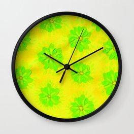 Lemon Lime Rose Wall Clock