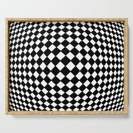 Tribute to Vasarely 10 Serving Tray