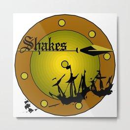 Shakes Spear Metal Print