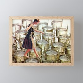 Walking on glass Framed Mini Art Print