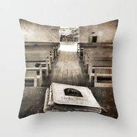 bible Throw Pillows featuring Bible Print by Gia Jury