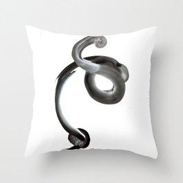 Breath Portrait Black Throw Pillow