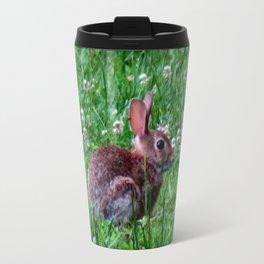 Bunny In The Meadow Travel Mug