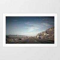 Road to where ever  Art Print