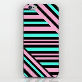 Geometric pattern. Striped triangles 5 iPhone Skin