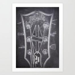 Gibson's headstock Art Print