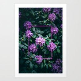 Neon Botanical I Art Print