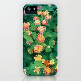 Mediterranean Flowers and Foliage iPhone Case