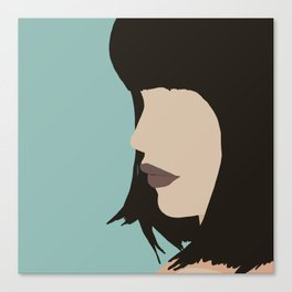 Cara - a modern, minimal abstract portrait of a woman Canvas Print