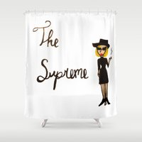supreme Shower Curtains featuring The Supreme by Dax M