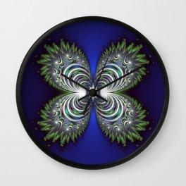 Fractal Butterfly Wall Clock