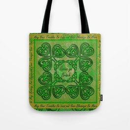 Celtic Irish Clover Duvet Tote Bag