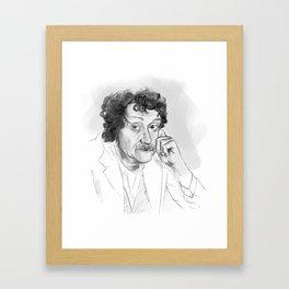Kurt Vonnegut portrait Framed Art Print
