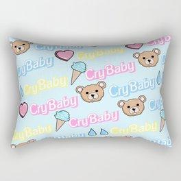CRY BABY PRINT- PASTEL BLUE Rectangular Pillow