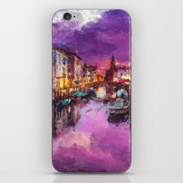 Twilight On Venice Canal iPhone Skin