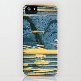 Woodblock Sunset iPhone Case