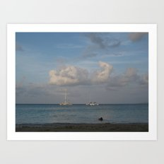 Jamaica - Sailing on the Seas Art Print