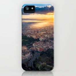 Daybreak above the Colosseum in Rome iPhone Case