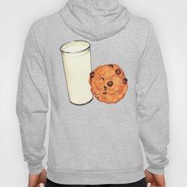 Milk & Cookies Pattern - Blue Hoody