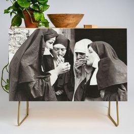 Nuns Smoking Credenza