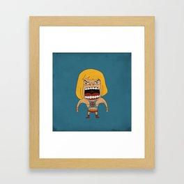 Screaming He-Man Framed Art Print