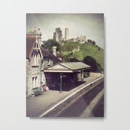 Corfe Castle Railway Station Metal Print