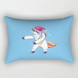 Christmas Unicorn Floss Rectangular Pillow