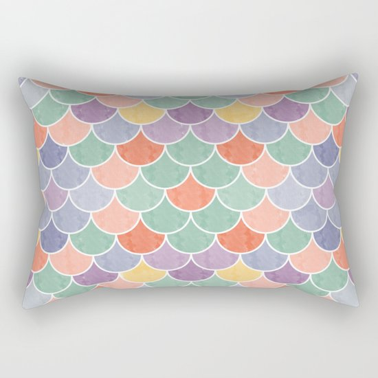 Watercolor Lovely Pattern VVXVIV Rectangular Pillow