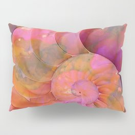 Colorful Nautilus Shell By Sharon Cummings Pillow Sham