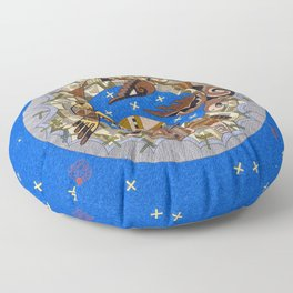 Chasing Dragonflies Floor Pillow