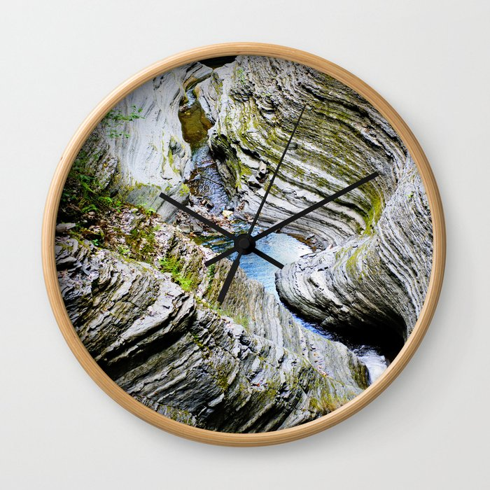 Curves Of Time Wall Clock