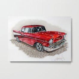 57 Chevy Metal Print