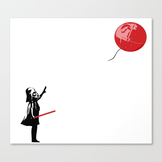 That's No Banksy Balloon (It's a Space Station) Canvas Print