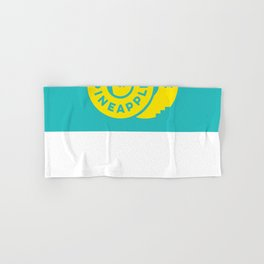 PineappleStaircase | Official Logocolor 2015 in Turquoise/Yellow Hand & Bath Towel