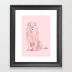 ALBINO LION Framed Art Print