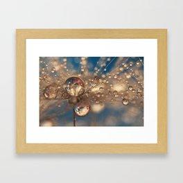 Crazy Dandelions Sparkles Framed Art Print