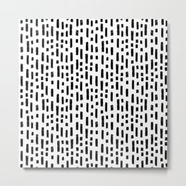 linocut dots and dashed stripes spots minimalist decor gifts hipster friendly Metal Print