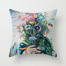 The Last Flowers Throw Pillow