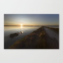 sunset saline of Cervia italy Canvas Print
