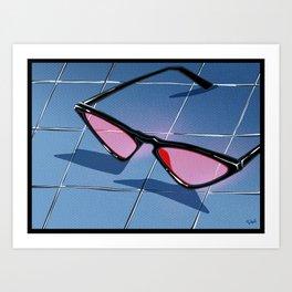 SOUTH BEACH sunglasses Art Print