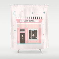 Pink Sugar Bakery  Shower Curtain