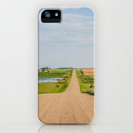 Walking on a Country Road, North Dakota 3 iPhone Case