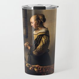 Johannes Vermeer - Girl reading a letter by an open window Travel Mug