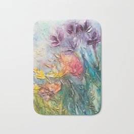 abstract flowers Bath Mat