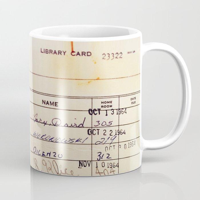 Library Card 23322 Coffee Mug